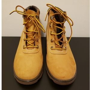Timberland boots yellow and brown